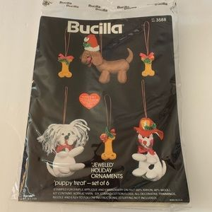 Bucilla EmbroideryHoliday Ornaments Puppy Kit